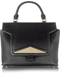 Vionnet - Mosaic 30 Black Leather And Ayers Medium Satchel Bag W/shoulder Strap - Lyst