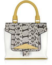 Vionnet - Mosaic 20 Multicolour Leather & Elaphe Mini Satchel Bag W/shoulder Strap - Lyst
