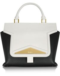 Vionnet - Mosaic 30 Color Block Leather Medium Satchel Bag W/shoulder Strap - Lyst