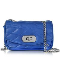 Zadig & Voltaire - Cobalt Blue Quilted Leather Skinny Love Clutch - Lyst