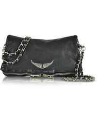 Zadig & Voltaire - Rock Deep Dye Marine Leather Foldable Clutch - Lyst