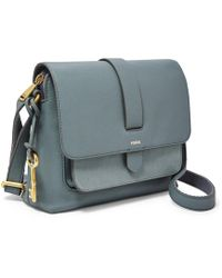 Fossil Kinley Small Crossbody Handbags Chambray - Blue