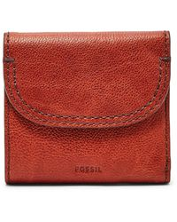 Fossil Cleo Multifunction Wallet Brandy - Red