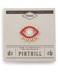 Fossil Pintrill® X Modern & Magic Evil Eye Pin Dusty Rose - Multicolor