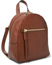 Fossil - Megan Mini Leather Backpack - Lyst