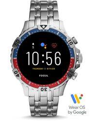 Fossil Gen 5 Smartwatch Garrett HR Edelstahl - Mettallic