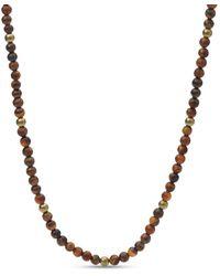 Fossil Bracelet de perles en œil-de-tigre -Marron - Multicolore