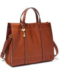 Fossil Carmen Shopper Handbags Zb7938213 - Brown