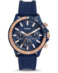 Fossil Uhr Bannon - Multifunktion - Silikon - Blau