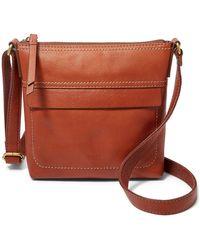 Fossil Aida Small Crossbody Handbags Shb2969210 - Brown