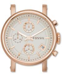 Fossil Boîtier chronographe en acier inoxydable Doré rose -Crème - Multicolore