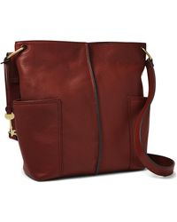 Fossil Lane N/s Crossbody Zb1321227 - Red