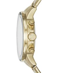 Fossil Bannon Multifunction Gold-tone Stainless Steel Watch Jewelry - Metallic