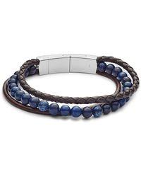 Fossil Armband Vintage Casual Multi-Strand and Bead - Blau