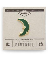 Fossil Pintrill® X Modern & Magic Star + Moon Pin Spruce - Multicolor