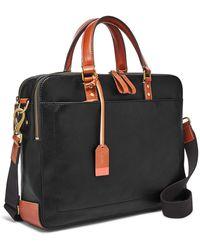 Fossil Defender Double Zip Workbag Bag Mbg9346001 - Black