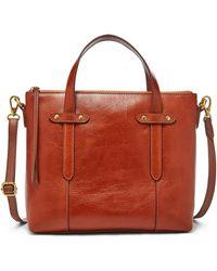 Fossil Felicity Satchel Handbags Shb1980210 - Brown