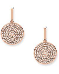 Fossil Rose Gold-tone Brass Drop Earrings - Metallic
