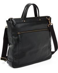 Fossil - Haskell Ns Workbag Bag Black - Lyst