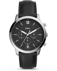 Fossil Neutra Chronograph Black Leather Watch