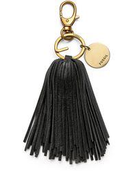 Fossil Keychain Tassel - Black