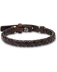 Fossil Braided Bracelet Brown And Black Bracelet Ja5932716