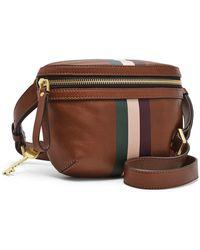 Fossil - Brenna Belt Bag Accessories Brown Stripe - Lyst
