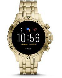 Fossil Refurbished Gen 5 Smartwatch Garrett Hr Gold-tone Stainless Steel - Metallic
