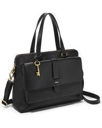 Fossil Kinley Satchel Handbags Zb7892001 - Black
