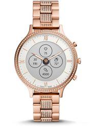 Fossil Hybrid Smartwatch Hr Charter Rose Gold - Metallic