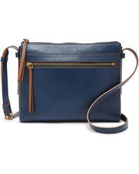 Fossil Felicity Crossbody Handbags Twilight - Blue