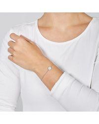 Fossil Bracelet à chaîne en argent 925 et nacre blanche à étoile vintage -Argenté - Métallisé
