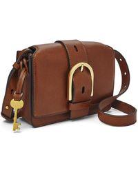 Fossil Wiley Crossbody Handbags Zb7885200 - Brown