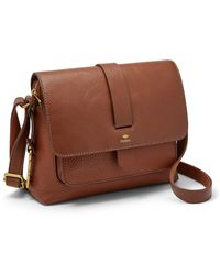 Fossil Kinley Small Crossbody Handbags Brown