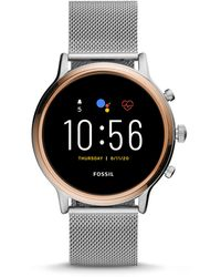 Fossil Gen 5 Smartwatch Julianna Hr Stainless Steel Mesh - Metallic