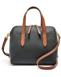 Fossil - Sydney Satchel Handbag Black Multi - Lyst