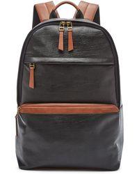 Fossil Evan Backpack Bags Sbg1222001 - Black
