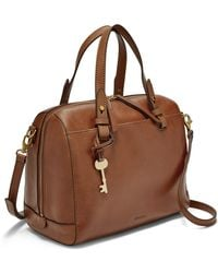 Fossil Brooke Leather Satchel - Brown