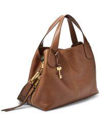 Fossil Maya Satchel Handbags Zb7566200 - Brown