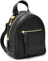 Fossil Megan Mini Backpack Handbags Zb7916001 - Black