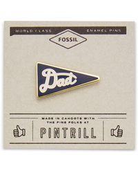 Fossil Pintrill® X Dad Flag Pin Navy - Blue