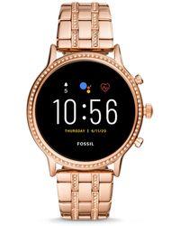 Fossil Gen 5 Smartwatch Julianna Hr Rose Gold-tone Stainless Steel - Multicolour