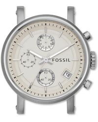 e423a87ab COACH Boyfriend Small 34mm Rubber Strap Watch in Metallic - Lyst