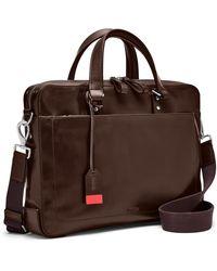 Fossil Defender Brief Bag Dark Brown