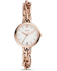 Fossil Embry Three-hand Rose Gold-tone Stainless Steel Watch Jewellery - Multicolour