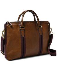 Fossil Houston Top Zip Workbag - Brown