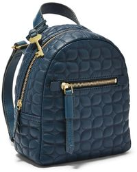 Fossil Megan Mini Backpack Handbags Zb7920497 - Blue