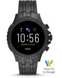Fossil Gen 5 Smartwatch Garrett HR Edelstahl Schwarz