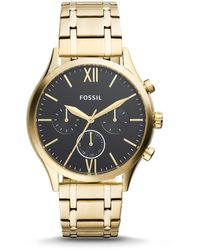 Fossil Fenmore Midsize Multifunction Gold-tone Stainless Steel Watch Jewelry - Metallic