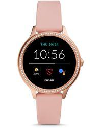 Fossil Gen 5e Smartwatch Blush Silicone - Pink